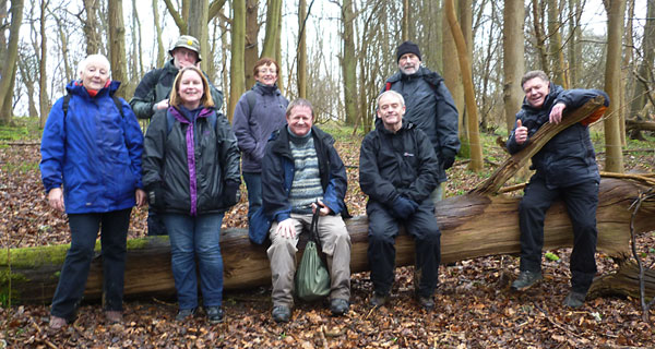Plumstead Walkers taking a welcome break