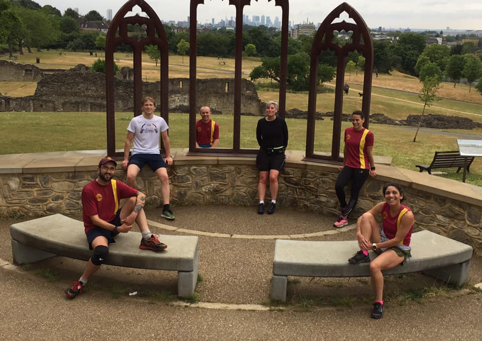 Wednesday training run at Lesnes Abbey